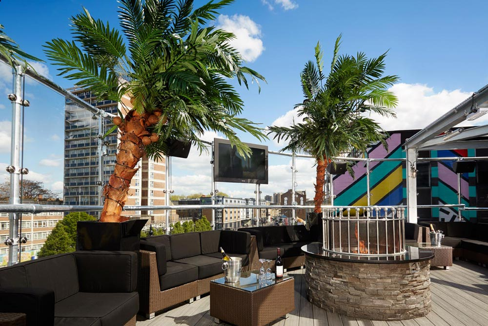 Rooftop and Terrace Garden Bar in Shoreditch