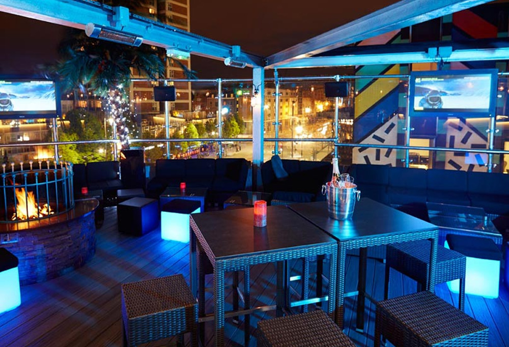 Rooftop terrace in shoreditch